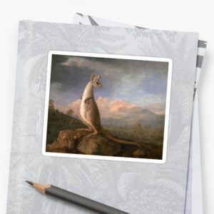 The Kongouro Oil Painting by Australian Artist George Stubbs Stickers