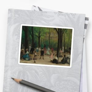 Luxembourg Gardens Oil Painting by William James Glackens Stickers
