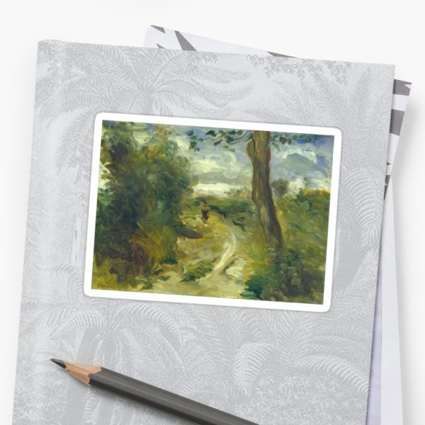 Landscape Between Storms Oil Painting by Auguste Renoir Stickers