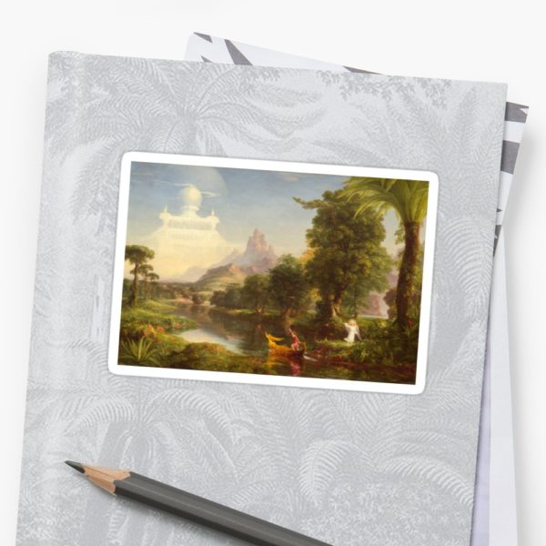 The Voyage of Life Youth Painting by Thomas Cole Stickers