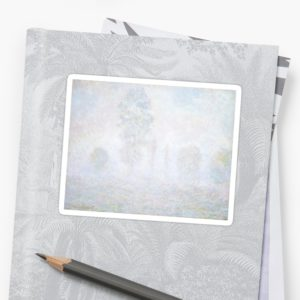Morning Haze by Claude Monet Stickers