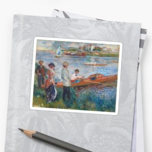 Oarsmen at Chatou Painting by Auguste Renoir Stickers