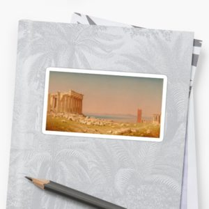 Ruins of the Parthenon Oil Painting by Sanford Robinson Gifford Stickers