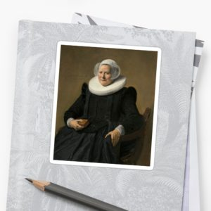 Portrait of an Elderly Oil Painting Lady by Frans Hals Stickers