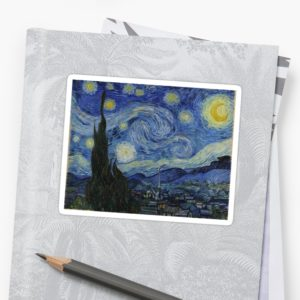 Starry Night Oil painting by Vincent van Gogh Stickers