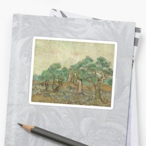 The Olive Orchard by Vincent van Gogh - Classic Art Stickers