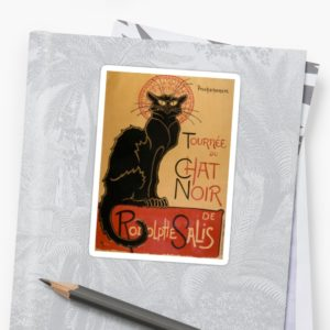 Le Chat Noir The Black Cat Poster by Théophile Steinlen Stickers