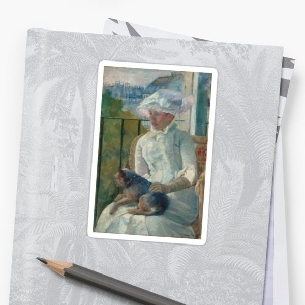 Young Girl at a Window Oil Painting by Mary Stevenson Cassatt Stickers