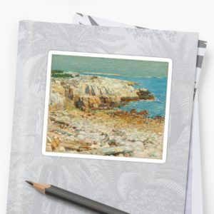 A North East Headland Oil Painting by Childe Hassam Stickers