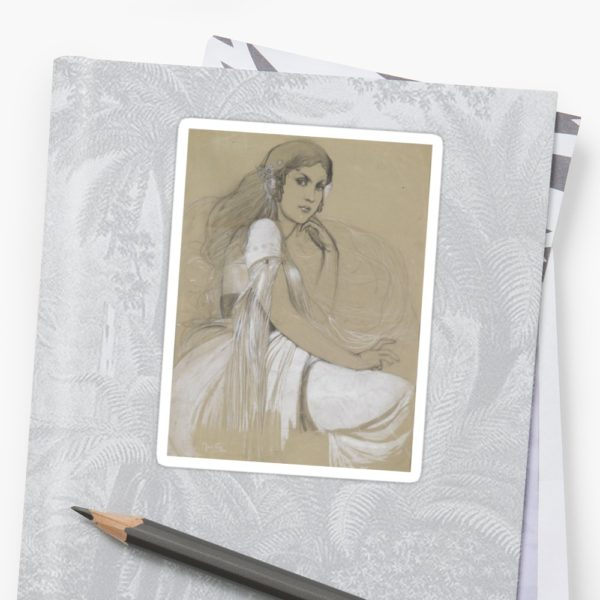The artists daughter by Jaroslava Drawing Stickers