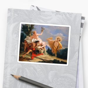 Oil Painting Apollo Pursuing Daphne by Giovanni Battista Tiepolo Stickers