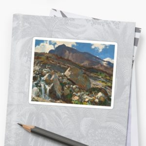 Simplon Pass Oil Painting by  John Singer Sargent Stickers