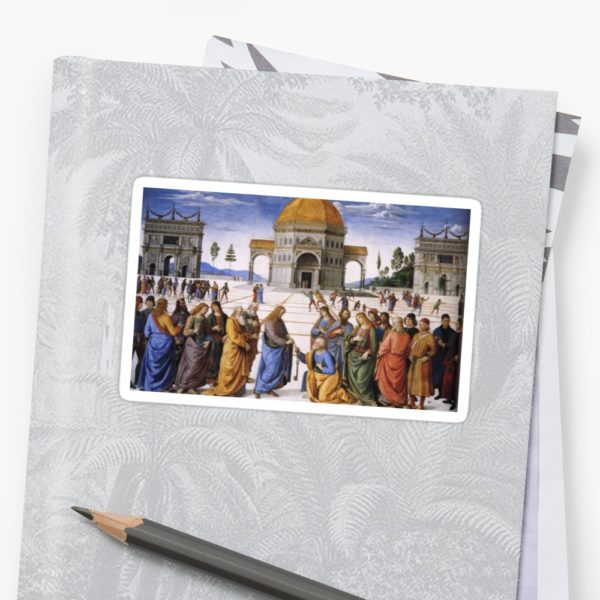 The Delivery of the Keys Painting by Perugino Sistine Chapel Stickers