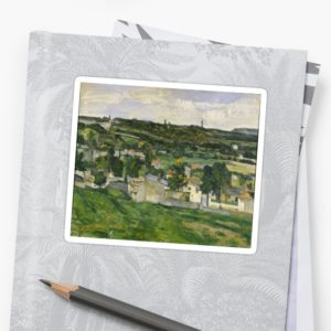 Stolen Art - View of Auvers-sur-Oise by Paul Cezanne Stickers