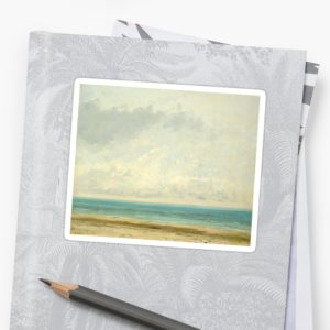 Calm Sea Oil Painting by Gustave Courbet Stickers