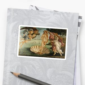 The Birth of Venus - Nascita di Venere by Sandro Botticelli Stickers