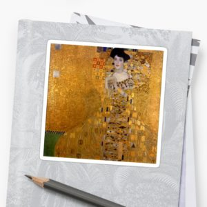 Adele Bloch Bauer by Gustav Klimt Stickers