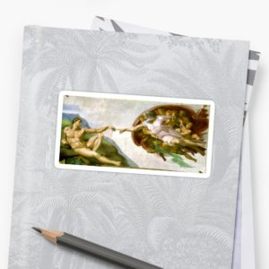 The Creation of Adam Painting by Michelangelo Sistine Chapel Stickers