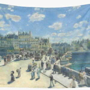 Pont Neuf Paris Painting by Auguste Renoir Wall Tapestries