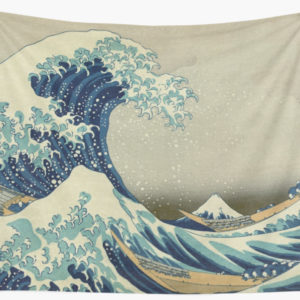 The Classic Japanese Great Wave off Kanagawa by Hokusai Wall Tapestries