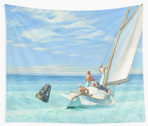Ground Swell Oil Painting by Edward Hopper Wall Tapestries