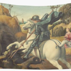 Saint George and the Dragon Oil Painting By Raphael Wall Tapestries