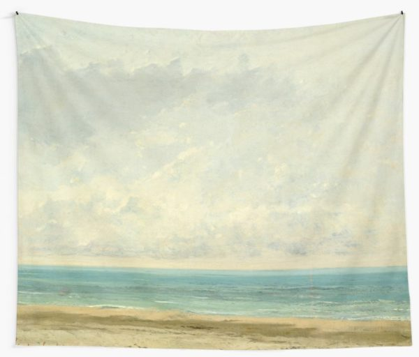 Calm Sea Oil Painting by Gustave Courbet Wall Tapestries