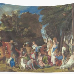 The Feast of the Gods Painting by Giovanni Bellini and Titian Wall Tapestries