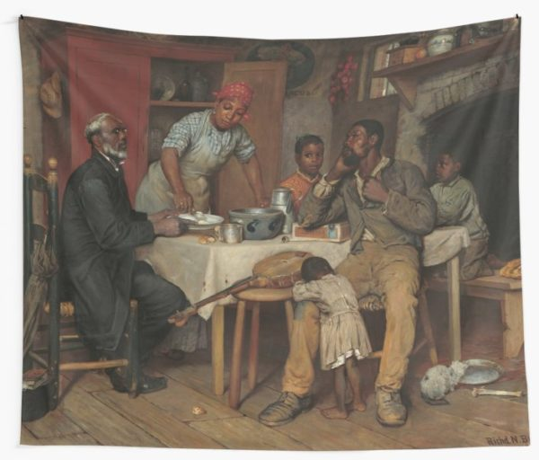 A Pastoral Visit Oil Painting by Richard Norris Brooke Wall Tapestries