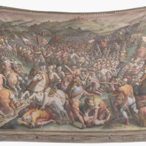 Classic Art The battle of Marciano in Val di Chiana By Giorgio Vasari Wall Tapestries