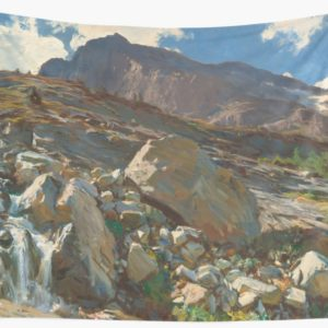 Simplon Pass Oil Painting by  John Singer Sargent Wall Tapestries