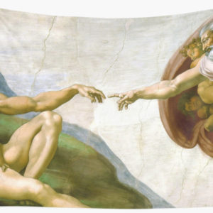 The Creation of Adam Painting by Michelangelo Sistine Chapel Wall Tapestries