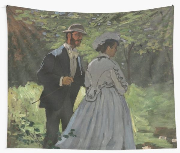 Bazille and Camille Painting by Claude Monet Wall Tapestries