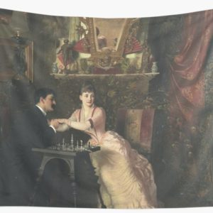 The Proposal Oil Painting by Knut Ekwall Wall Tapestries