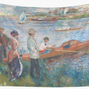 Oarsmen at Chatou Painting by Auguste Renoir Wall Tapestries