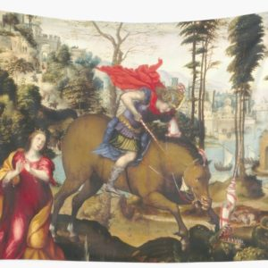 Saint George and the Dragon Oil Painting by Sodoma Wall Tapestries