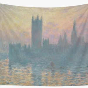 The Houses of Parliament  Sunset by Claude Monet Wall Tapestries