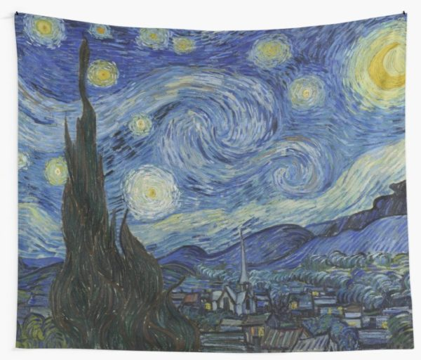 Starry Night Oil painting by Vincent van Gogh Wall Tapestries