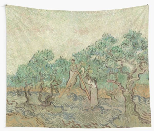 The Olive Orchard by Vincent van Gogh - Classic Art Wall Tapestries