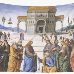 The Delivery of the Keys Painting by Perugino Sistine Chapel Wall Tapestries