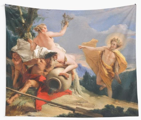 Oil Painting Apollo Pursuing Daphne by Giovanni Battista Tiepolo Wall Tapestries