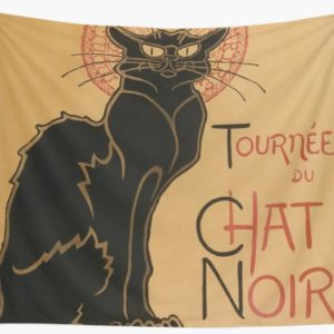 Le Chat Noir The Black Cat Poster by Théophile Steinlen Wall Tapestries