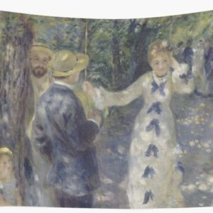The Swing Oil Painting by Auguste Renoir Wall Tapestries