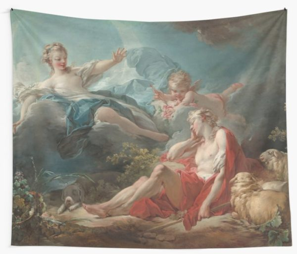 Diana and Endymion Oil Painting by Jean-Honoré Fragonard Wall Tapestries