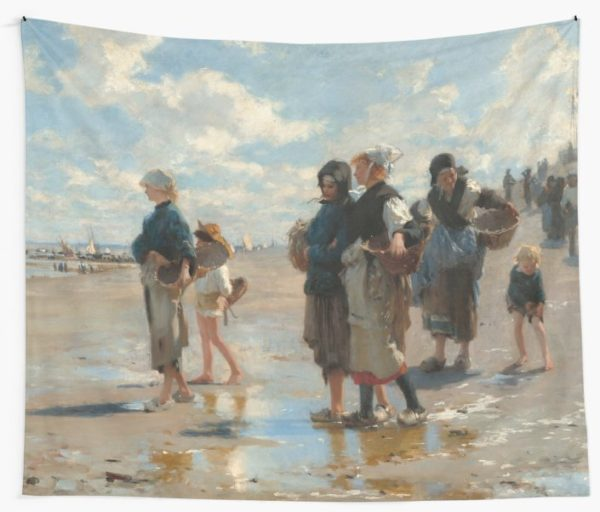 Setting Out to Fish Oil Painting by John Singer Sargent Wall Tapestries