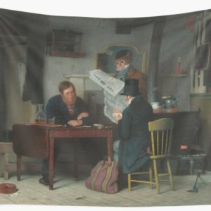 Waiting for the Stage Oil Painting by Richard Caton Woodville Wall Tapestries