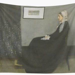 Whistlers Mother Oil Painting by James McNeill Whistler Wall Tapestries