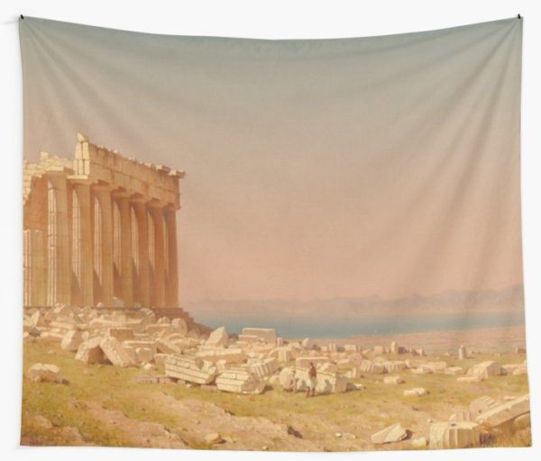 Ruins of the Parthenon Oil Painting by Sanford Robinson Gifford Wall Tapestries