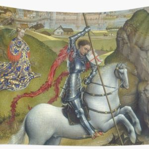 Saint George and the Dragon Oil Painting by Rogier van der Weyden Wall Tapestries