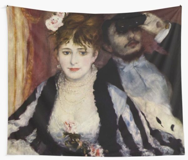 The Theatre Box -  La Loge Oil Painting by Auguste Renoir Wall Tapestries
